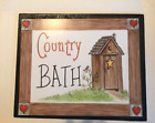 Outhouse COUNTRY BATH Bathroom powder room primitive wall art wooden decor sign