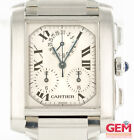 Cartier Tank Francaise Chronograph 2303 28mm Stainless Watch Parts Only Repair