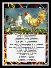 ROOSTER HEN CHICKENS MAGNET KITCHEN MEASUREMENT GUIDE 5 x 7