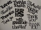 12 sentiments of Thanks words greeting card scrapbook die cuts