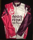 XL Vintage NEON ROYAL OOSTKAMP RANDONNEURS Cold Weather Cycling Jersey BELGIUM