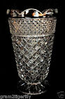 WEXFORD TALL VASE Footed Diamond Anchor Hocking Scalloped Rim