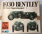 1930 Bentley 4 1/2 litre Supercharged 1/12 scale Plastic car model by Model Prod