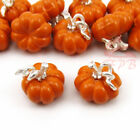 Pumpkin Charms 12mm Wholesale Orange Enamel Pendants EC0094297 2 4 8PCs