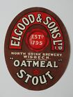Elgood & Sons Ltd Oatmeal Stout beer label, Wisbech 1795