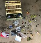 MIXED LOT OF FISHING GEAR WITH TACKLE BOX FREE US SHIPPING