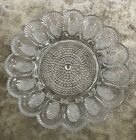 VINTAGE Deviled Egg Tray Plate Hobnail Clear Indiana Glass 11