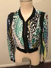Bcbg Maxazria Bomber Cropped Jacket Evergreen