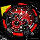 Invicta Bolt Chronograph Stainless Steel Black Carbon Fiber Red 50mm Watch New