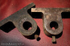 ANTIQUE FACTORY CART WHEEL AXLE BRACKETS, Vtg Industrial Coffee Table Cast Iron