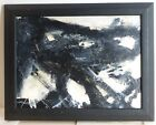 VINTAGE ABSTRACT EXPRESSIONIST ACTION PAINTING MID CENTURY MODERN Signed #2