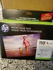 Hp photo value pack 110 ink tri color Cartridge + 140 sheets of photo Paper