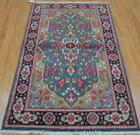 2'9 x 5 Nice Colors Authentic Persian Kerman Hand Knotted Oriental Wool Area