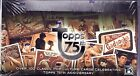 Topps 75th anniversary trading cards sealed box 3 autographs per box + 1 buyback