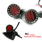 US Red LED Stop Brake Running Turn Signals Tail Light For Motorcycle Harley