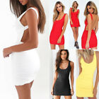 Women Sundress Bandage Bodycon Backless Short Mini Dress Evening Party Cocktail