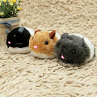 Cute Vibrating Chubby Rat Tease Cat Toy Plush Mouse Cats Interactive ;; EEK A+