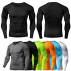 Men Compression T Shirt Base Layer Tight Thermal Sport Long Sleeve Training