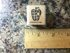 2854 Stampin Up SINGLE Rubber Stamp Mini Pathcwork Apple Country Style