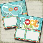 POOL PARTY 2 Premade Scrapbook Pages EZ Layout 3218