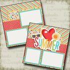 I HEART SUMMER 2 Premade Scrapbook Pages EZ Layout 3208
