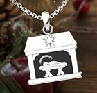 Logos Jewelry Nativity Sterling Silver Necklace