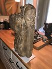 24 in. Tall Antique Ornate Buddhist Carving of