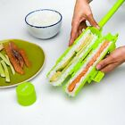 DIY Sushi Maker Kit Locking Clips and Easy Release Plunger Portable Fun