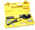 INDUSTRIAL GRADE HYDRAULIC CRIMPING TOOL LARGE BATTERY CABLE LUGS 12 TO 2 0 AWG