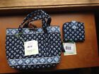 Vera Bradley NANTUCKET NAVY little toggle tote mini zip wallet set NWT HTF NEW