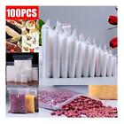 TOP Household 100x PE 4x6 Clear Zipper Bags Resealable Sealed Bags Zip Lock A8M5