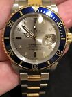 Rolex Submariner 18k and Stainless silver Dial With Factory Diamond/Sapphire