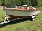 1960 classic wooden wood boat that runs awesome