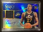 2013 14 Panini Select Rudy Gobert Rookie RC AUTO BLUE REFRACTOR 49 ! (B1)