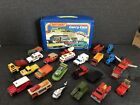 24 Vintage LESNEY Matchbox Cars Truck Car Tractor helicopter Vehicle LOT CASE