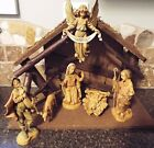5 Fontanini manger 8 piece set 1983 Mary Joseph Baby Jesus piper sheep