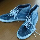 VANS denim style dyed high cut sneakers indigo dyeing from japan 574