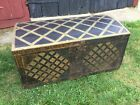 Antique Early American Rare Oversized Trunk Circa 1680-1720 Decor Wood Clean!