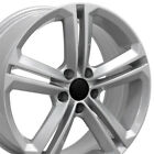 18 Rims Fit Volkswagen VW GTI Jetta EOS CC Passat Silver Wheels 69924 SET