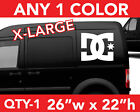 DC SHOES DC SOLID LARGE WALL AUTO DECAL STICKER 26w x 22h ANY 1 COLOR