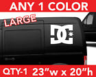 DC SHOES DC SOLID LARGE WALL AUTO DECAL STICKER 23w x 20h ANY 1 COLOR