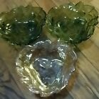 3 Vintage Indiana Glass Loganberry Design Candy/Nut Dishes