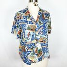 Vintage Womens Hawiian Button Down Shurt Suze large