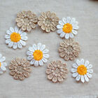 10pcs Small Daisy Flower Craft Embroidered Sew Iron on Patch Badge Applique