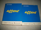 1997 HYUNDAI ACCENT SHOP MANUAL SET 2 VOLUMES INCLUDES ELECTRICAL CMYSTORE4MORE