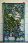20 x 34 Large Tiffany stained Style glass window panel wisteria flowers