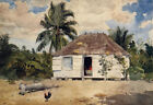 Native Huts Nassau by Winslow Homer Giclee Canvas Print Repro