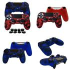 2 X Ps4 Playsation 4 Anti Slip Silicone Cover Skin For Controller. W/ 8 X Grips
