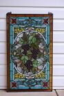 20 x 34 Large Handcrafted stained glass window panel Grape W Vine