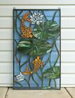 205 x 3475 Fish Play under Lotus Tiffany Style stained glass window panel